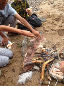 Cooking lunch on the beach Summer 2016